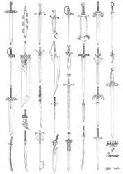 Inktober of swords 2018