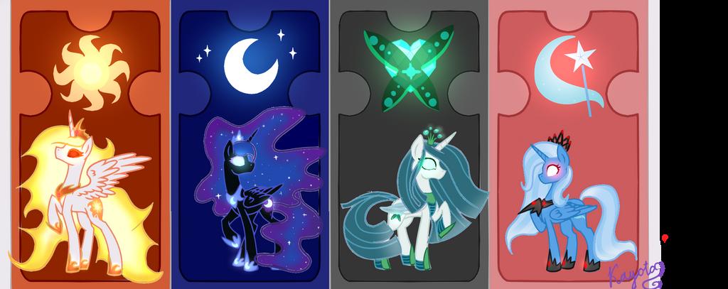 The Mlp Base Opposite Princesses By KayotaNV87 On DeviantArt