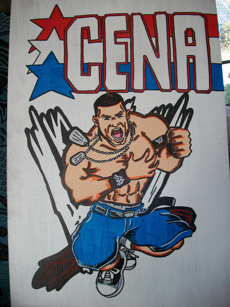 how to draw john cena chibi