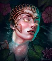 Athena: Olympus Waters by nickhuddlestonartist