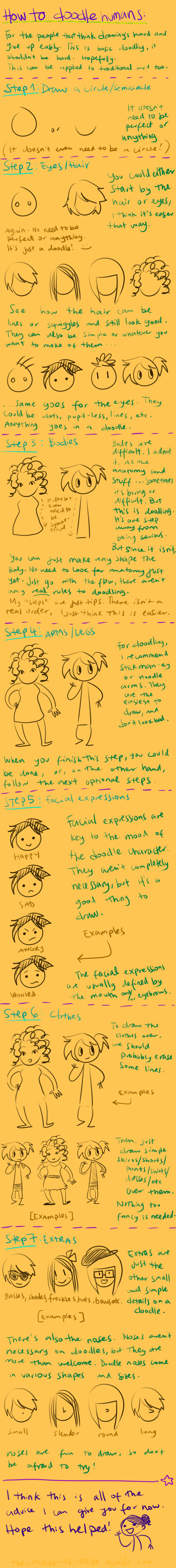 doodling tutorial by Mistakes13