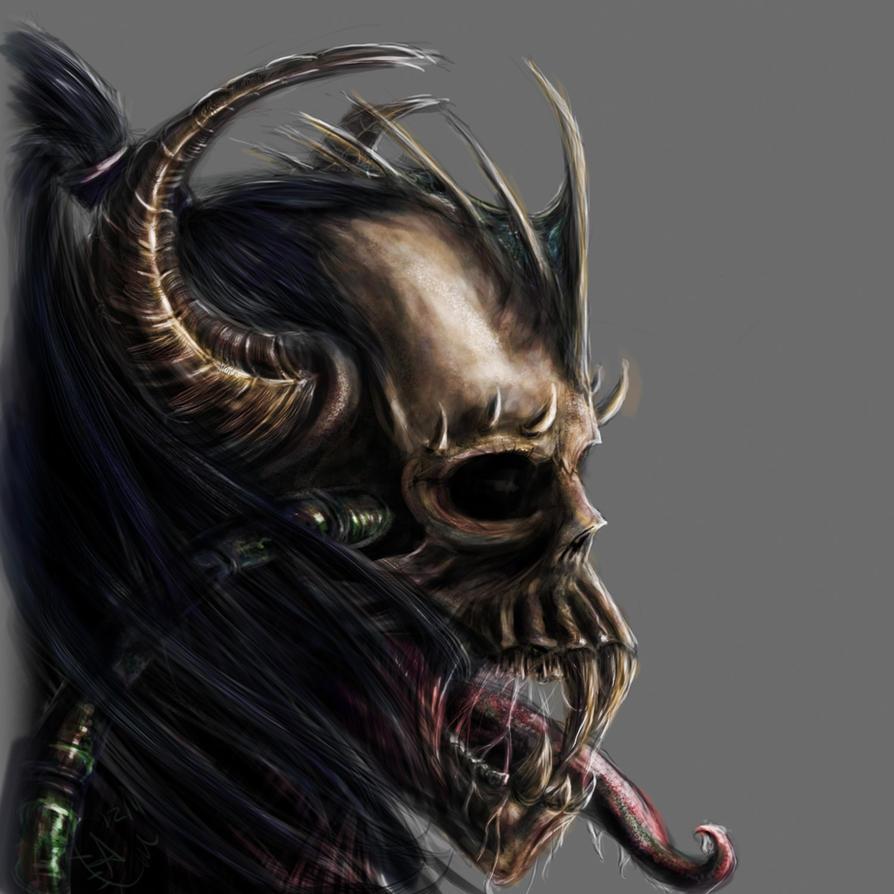 Demon Skull by Alara-Shade