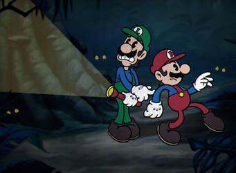 Cuphead-inspired Mario fanart!