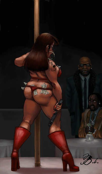 Thick Stripper by demmanuel
