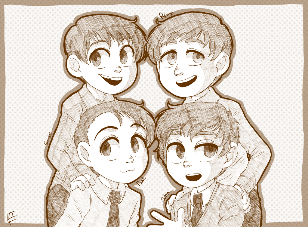 Commission - Beatles kids - by Keed-Kat