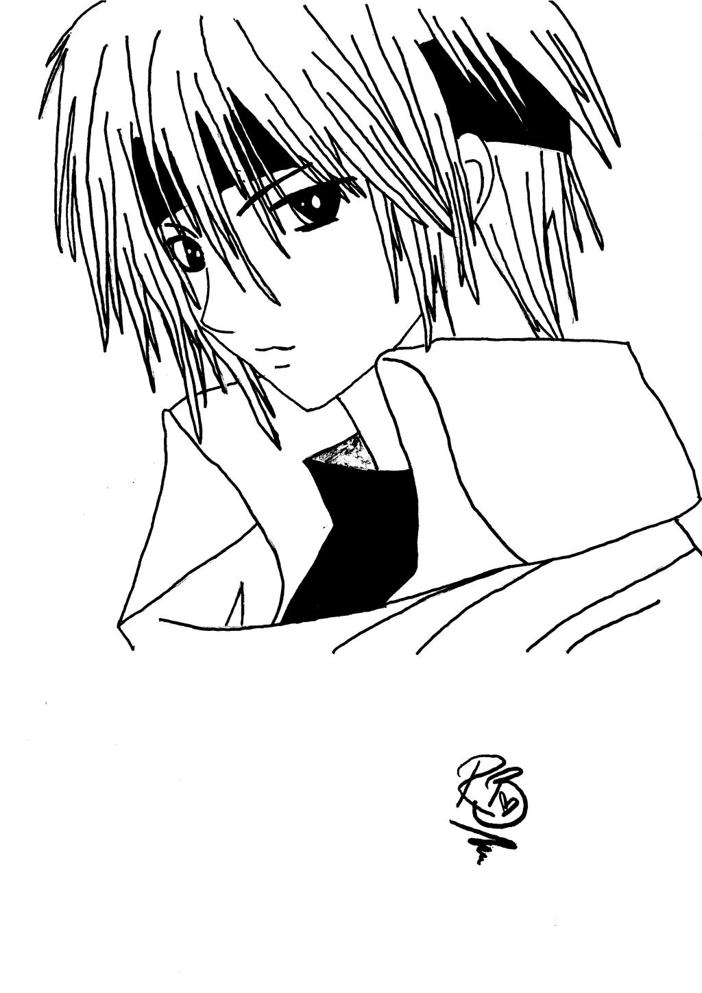 anime school boy coloring pages - photo#8