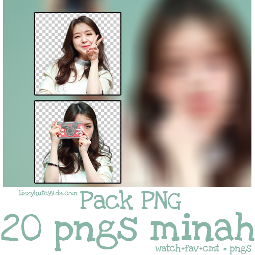 PACK PNG #3 - Minah - free sharing by lizzykute99