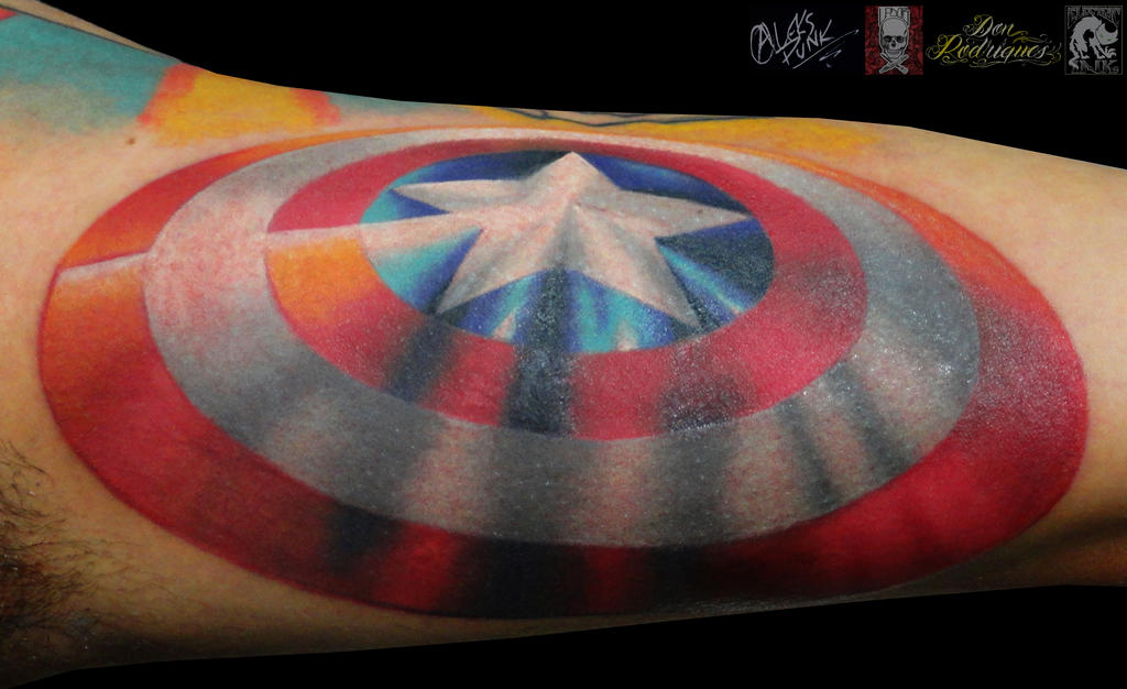 Captain America Shield By Alekspunktattoos On Deviantart