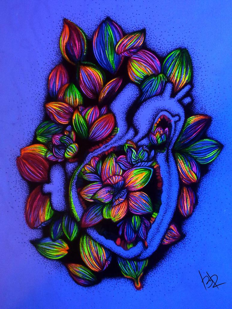 flowers inside acid by B1ackRain
