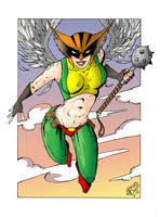 HAWKGIRL COLOR by WILLEYWORKS