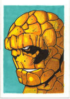 THE THING SKETCH CARD by WILLEYWORKS