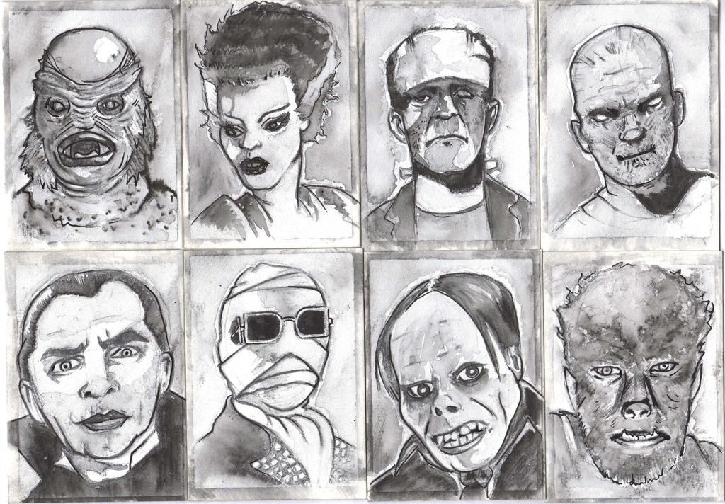 UNIVERSAL MONSTERS SKETCH CARDS
