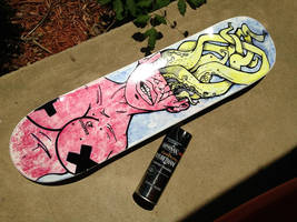 SKATE DECK #1 DONE by WILLEYWORKS