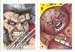 Wolverine Juggernaut SKETCH CARDS