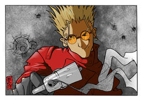 VASH THE STAMPEDE FREE LOVE FOR JER by WILLEYWORKS