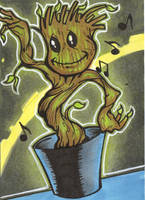 BABY GROOT SKETCH CARD by WILLEYWORKS