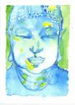 Buddha SKETCH CARD MINI PAINTING