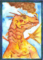RED DRAGON SKETCH CARD by WILLEYWORKS