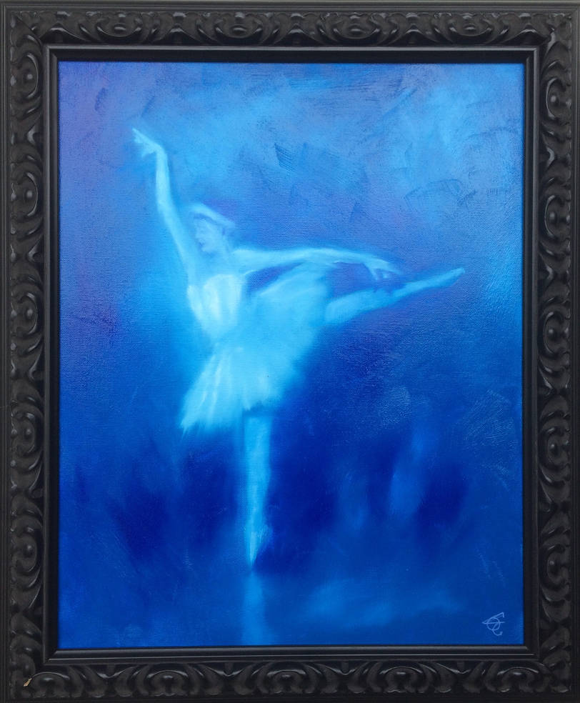 BALLERINA IN BLUE by WILLEYWORKS