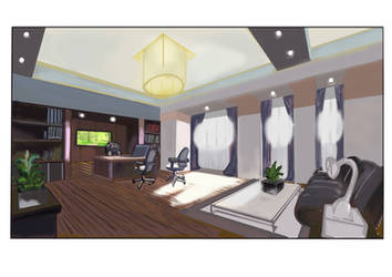 The office, visual novel's environment idea by tokugawamusashi
