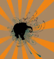 Elephant Vector Feminin by dmizzan