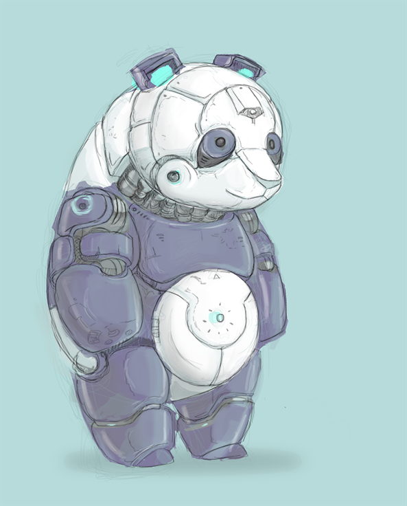 Mecha Panda by MrNorth
