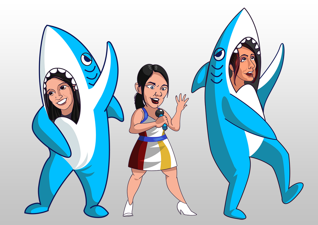 LeftShark and Rocket Podcast fanart by MrNorth