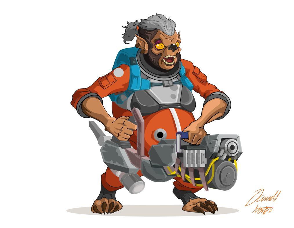 Werewolf Gunner by MrNorth