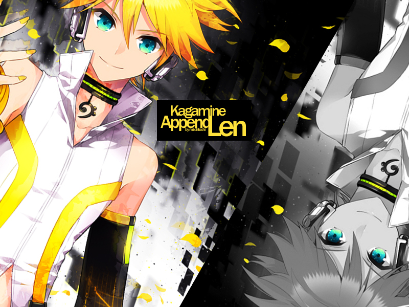 Wallpaper Kagamine Len Append by MilchToChi