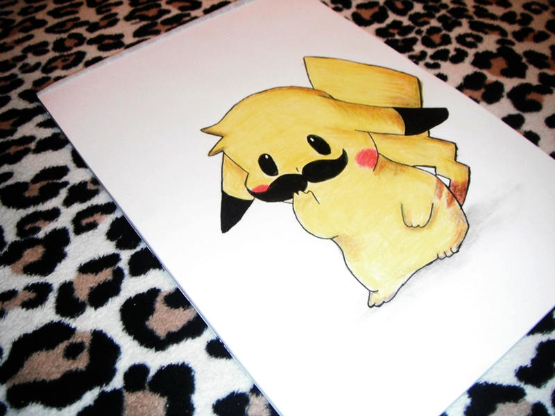 Mustache Pikachu by auriedessin