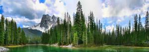 Emerald Lake 5 Picture Panoram