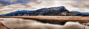 Columbia Lake 4 Picture Panorama by Joe-Lynn-Design