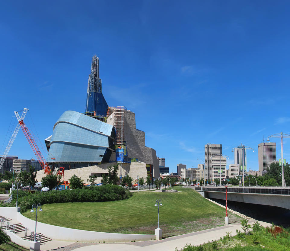 museum of human rights and downtown winnipeg by joe lynn design on