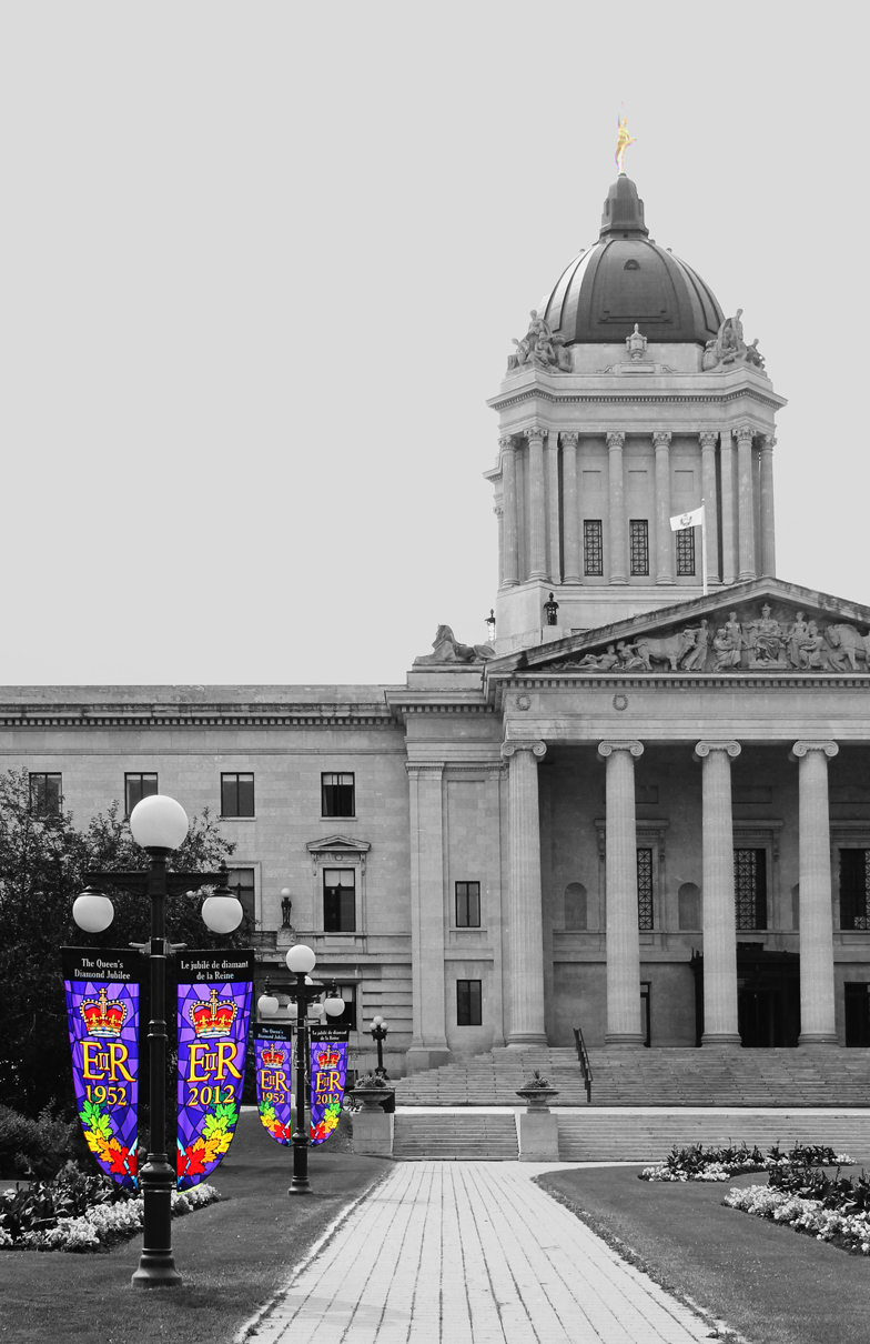 Banners outside the Legislature Building by Joe-Lynn-Design