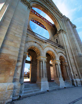 Saint Boniface Cathedral 4 Picture Panorama Color
