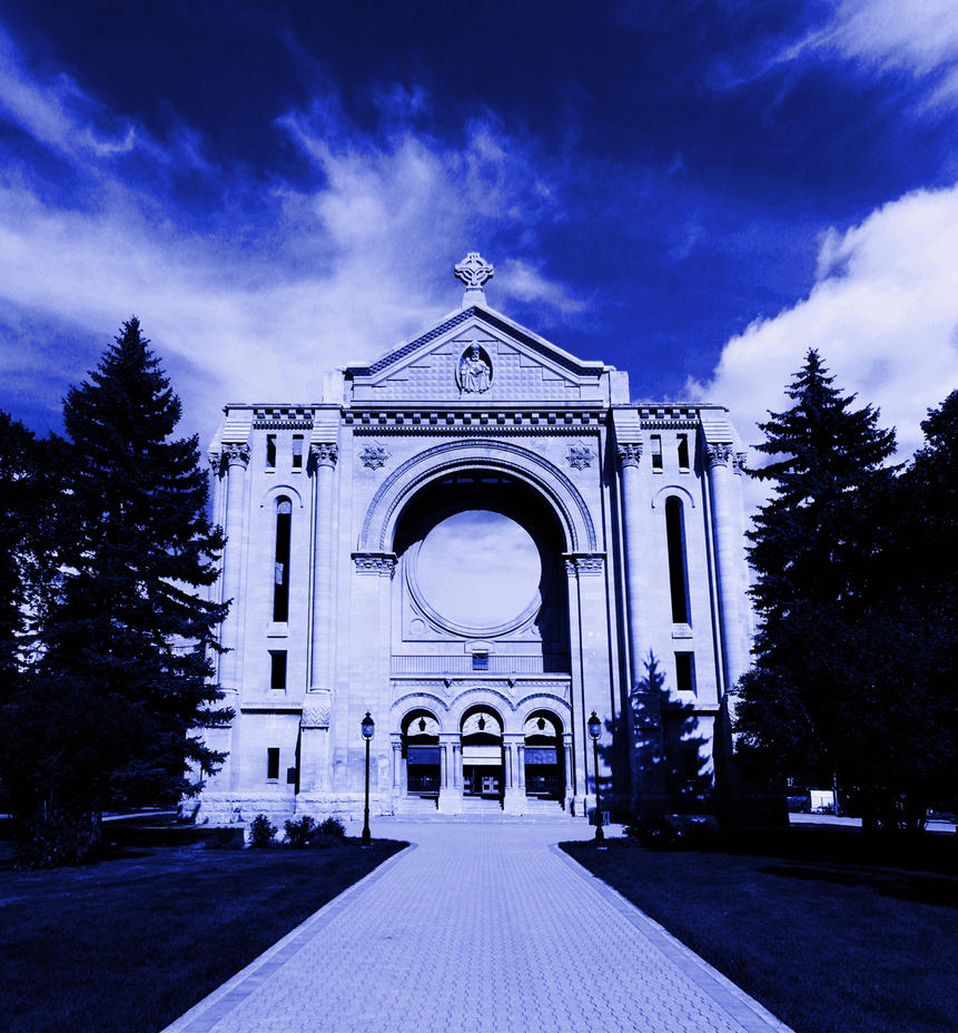 Saint Boniface Cathedral at Night by Joe-Lynn-Design