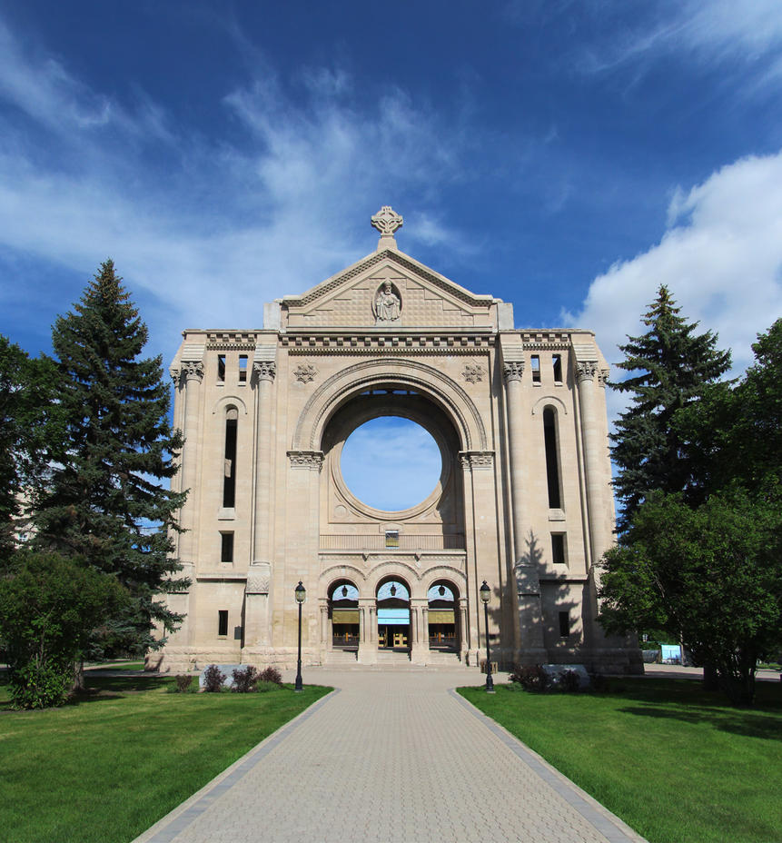 Saint Boniface Cathedral 2 Picture Pano by Joe-Lynn-Design