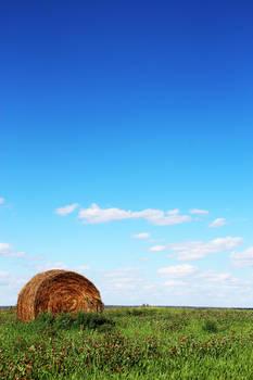 Hay Bale on the Prairie