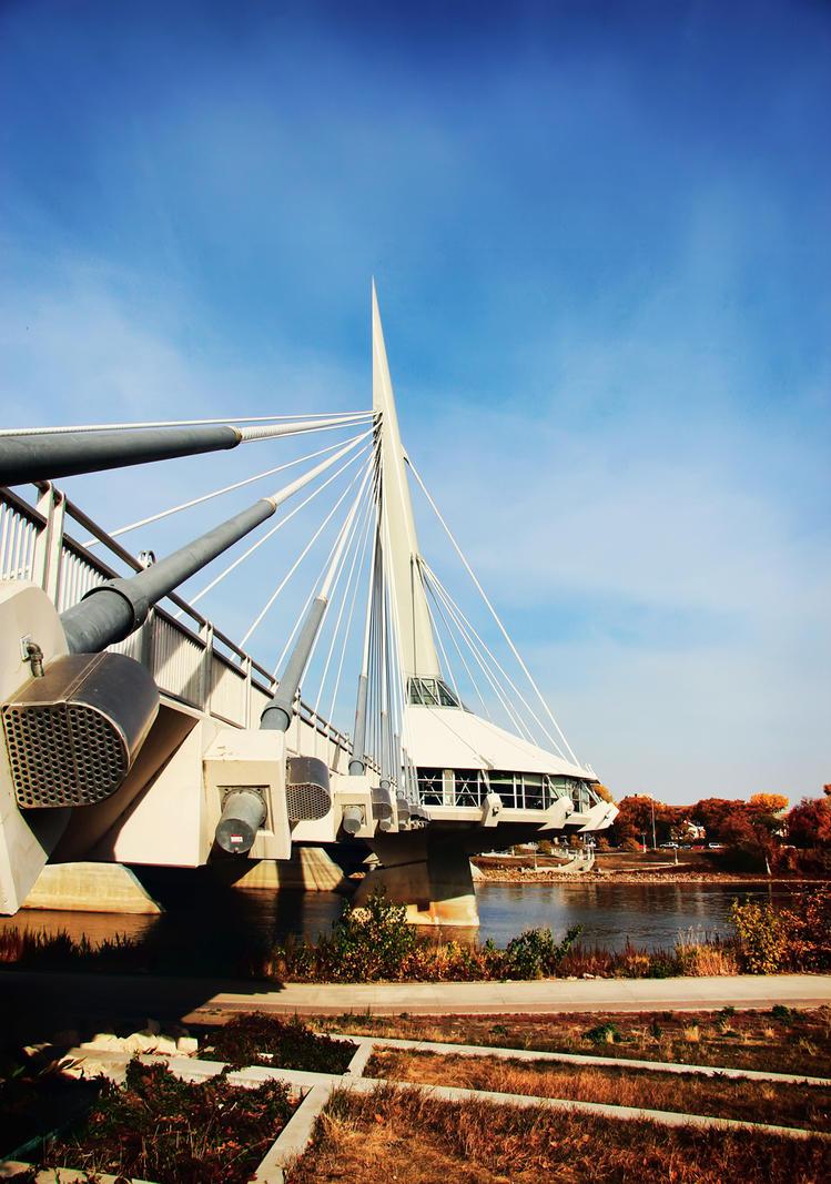 Esplanade riel bridge in winnipeg by joe lynn design on