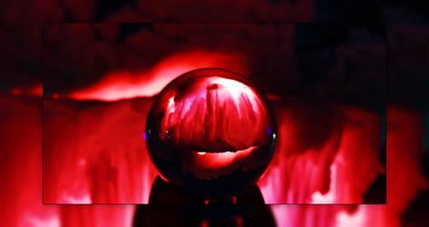 Lensball - Ice Castles Reds