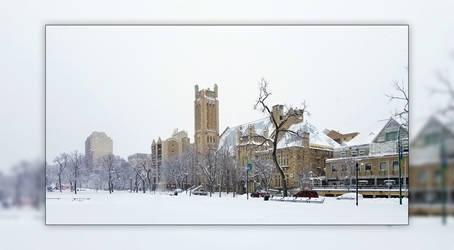 Knox United Church in Winter