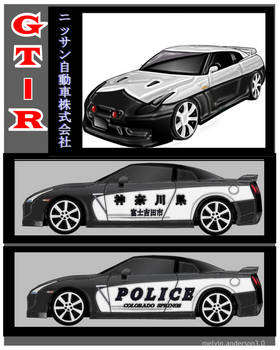 Wishful Thinking: Nissan GTR Police concept by EsqapeVelocity
