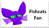 Magical Fish Cats stamp by Pickleoink