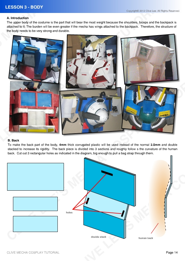 Gundam/mecha cosplay tutorial - Lesson 3-1 Body by Clivelee