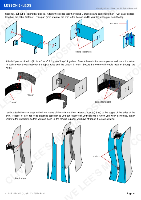 Gundam mecha cosplay tutorial - Lesson 5 - 2 by Clivelee