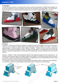 Gundam/mecha cosplay tutorial - Lesson 6-1 Feet
