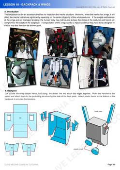 Gundam mecha cosplay tutorial - Lesson 10 - 1
