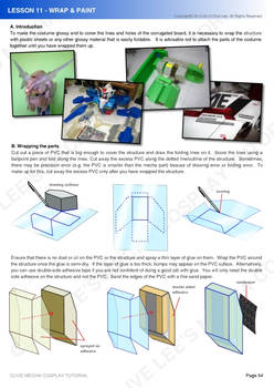 Gundam/mecha cosplay costume tutorial- Lesson 11-1