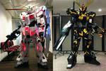 Gundam Unicorn and Banshee cosplay