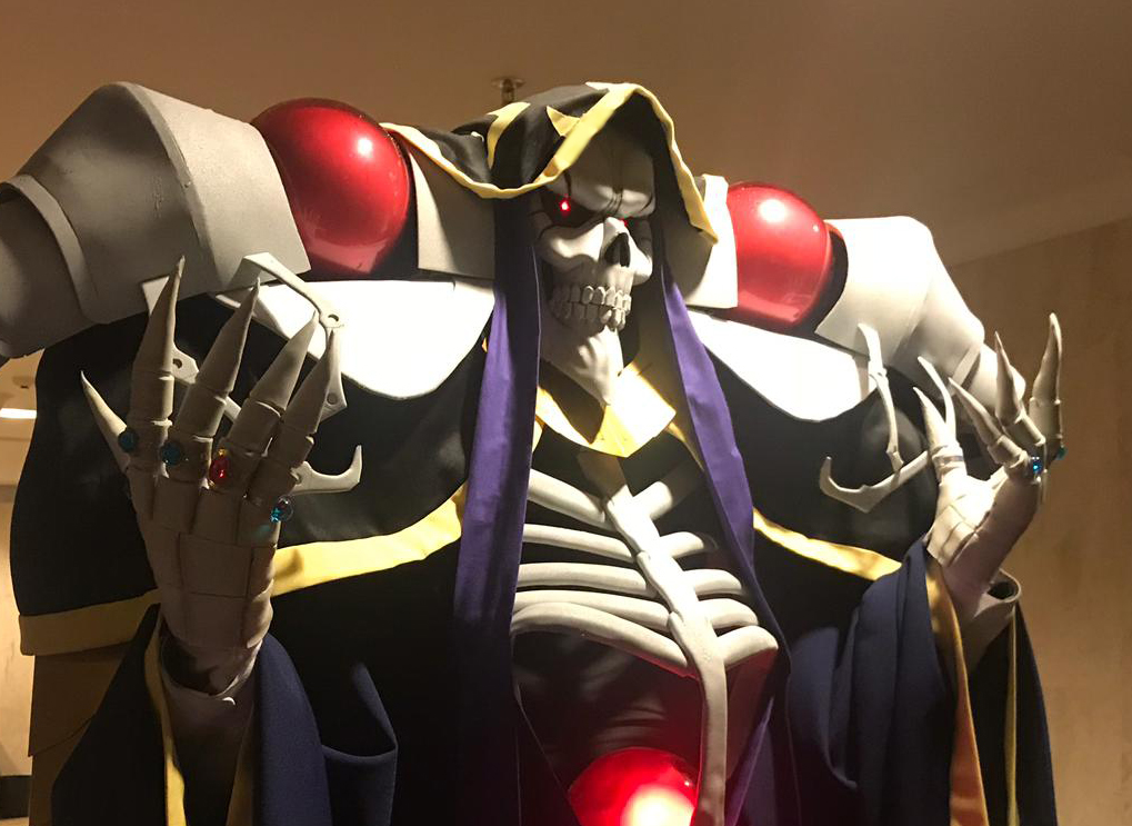 Close up shot of Ainz cosplay